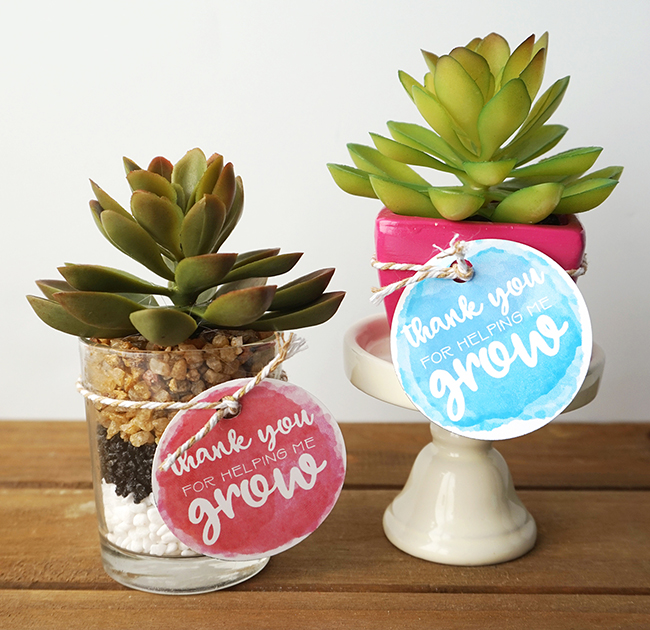 Thanks For Helping Me Grow DIY Teacher Gift