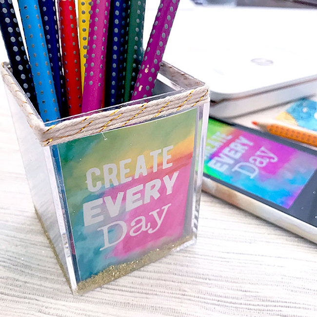 DIY Photo Art Pencil Holder