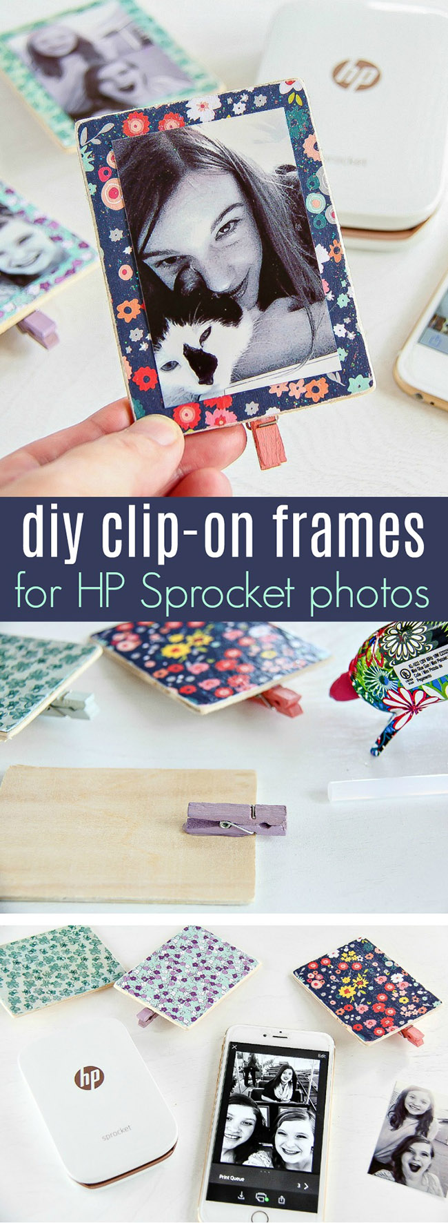 DIY Mini Clip-On Flower Frames