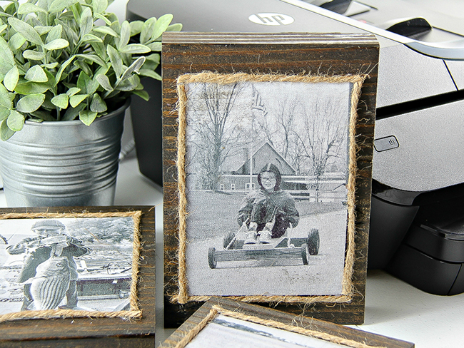 DIY Wood Block Frames