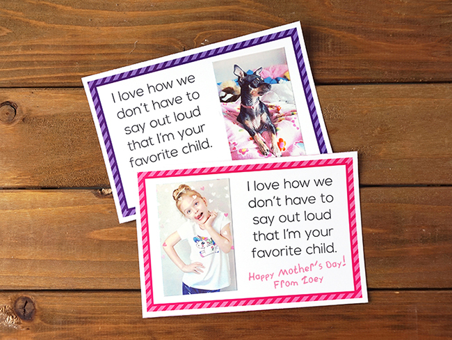 DIY Mother's Day Selfie Card