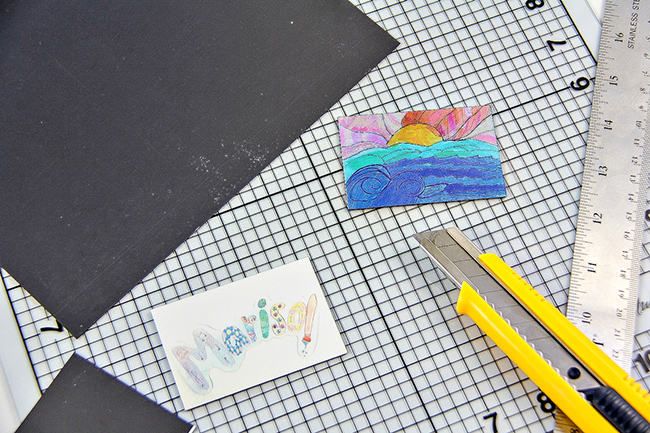 DIY Kids Artwork into Magnets