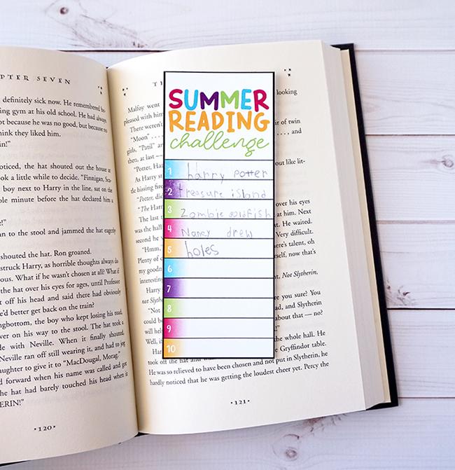 Summer Reading Challenge DIY Bookmarks