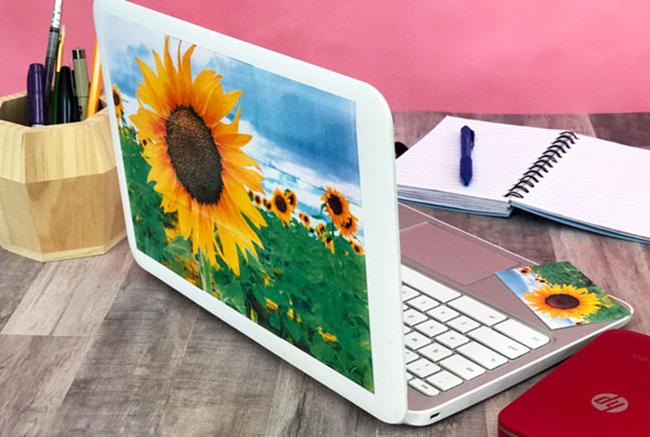 DIY Laptop Decorations with HP Sprocket Photos