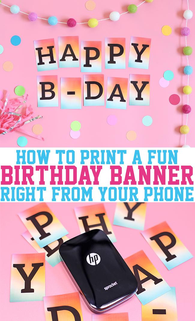 DIY Sprocket Birthday Banner