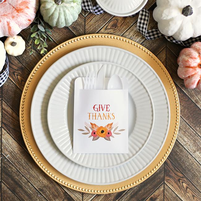 Printable DIY Thanksgiving Utensil Pouches