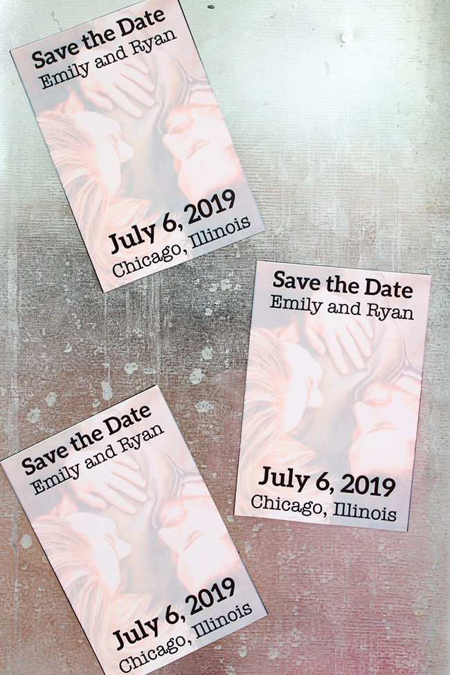 DIY Save the Date Magnets