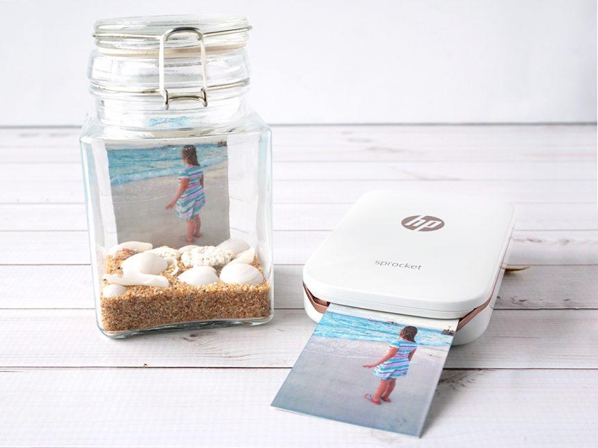 Beach Photo Memory Jar Craft