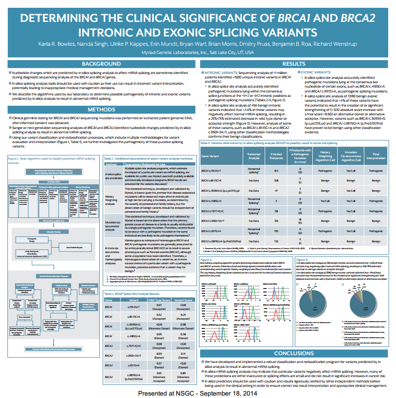 NSGC Bowles Poster