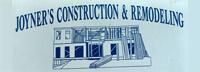 Website for Joyner Construction & Remodeling
