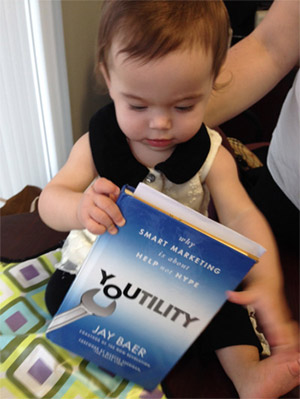 Danica reading Youtility