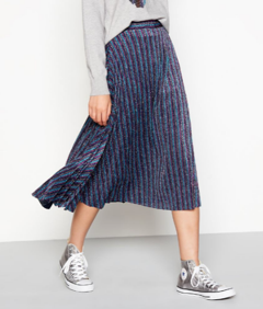 Henry_Holland_Purple_metallic_stripe_pleated_midi_skirt
