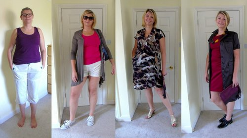 Feminine client after a wardrobe review