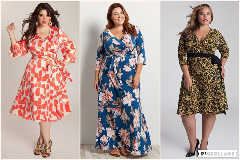 wrap dress prints