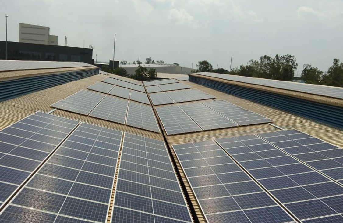 Solar system in Pithampur, Madhya Pradesh - MYSUN