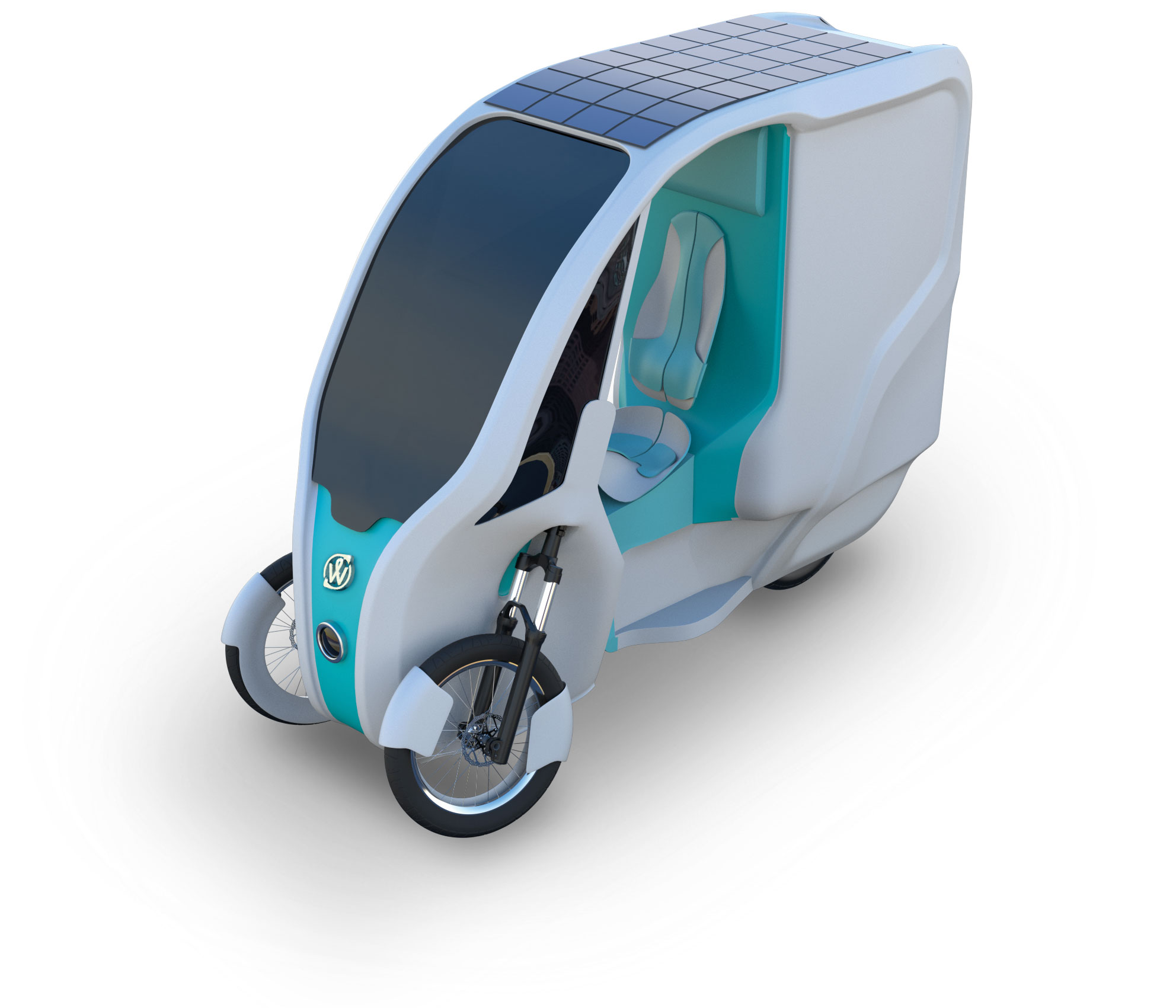 3D Image of a Solar Tricycle