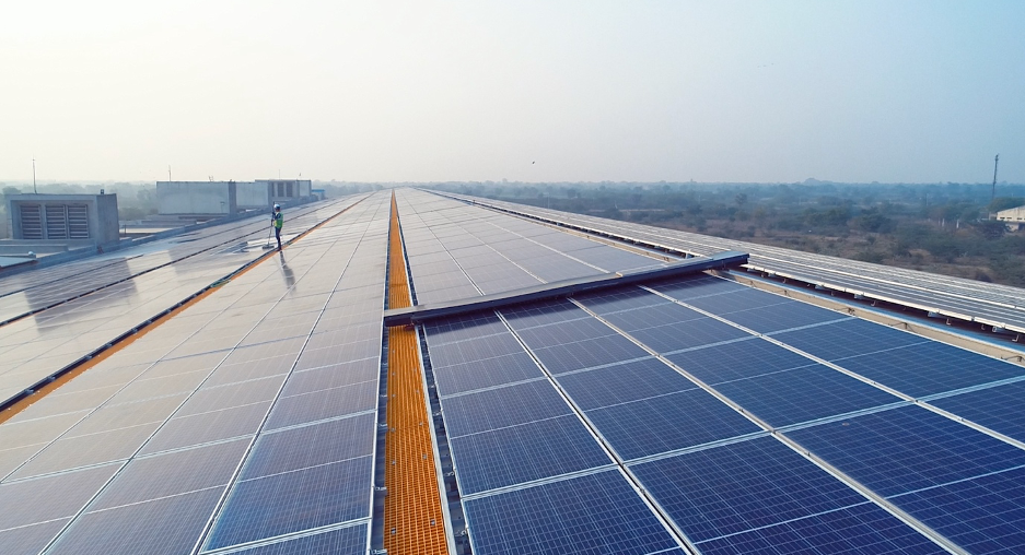 1.7 MW solar power plant in Bhilwara Rajasthan