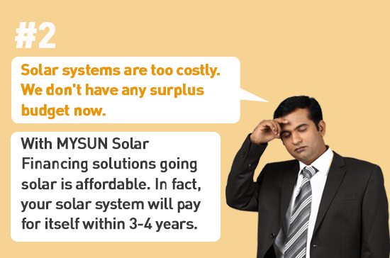 Are solar systems costly?