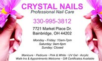 Crystal Nails-aurora: Mani Pedi