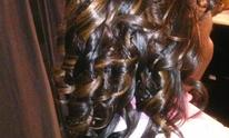 Samantha Myles At Just Because Beauty Salon: Hair Extensions