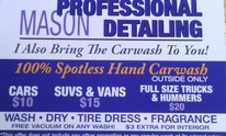 Mason Professional Detailing: Car Wash