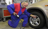 British Auto Sport: Flat Tire Repair