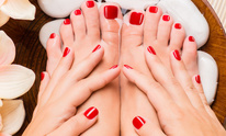 Finest Nails & Spa: Mani Pedi