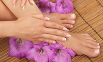Red Crystal Nail Spa Salon: Mani Pedi