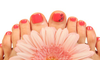 Golden Nail: Pedicure