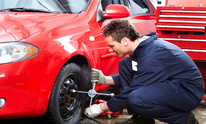 Express Oil Change: Flat Tire Repair