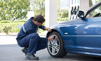 Moultry's Service Center: Flat Tire Repair