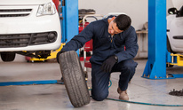 C-Bos Auto Body Shop: Flat Tire Repair