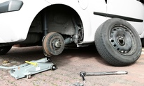 Horseless Carraige: Flat Tire Repair