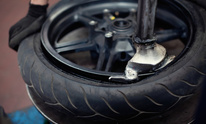 County Schools Bus Garage: Tire Mounting