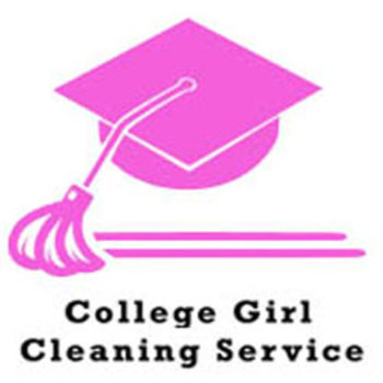 College_girl_cleaning_service_logo