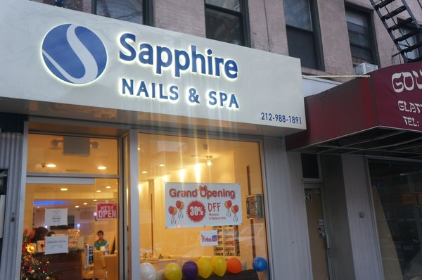 sapphire nails and spa new york ny pedicure book online. Black Bedroom Furniture Sets. Home Design Ideas