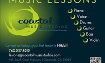Coastal Music Studios: Music Lessons