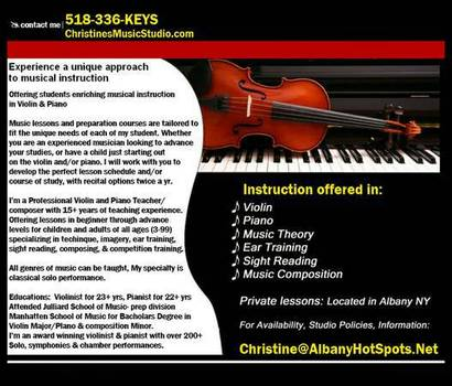 Christines Music Studio Albany Ny Music Lessons Book Online