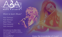 A.B.A. Music Studio: Voice, Flute, Piano, Guitar, Violin And Theory: Singing Lessons