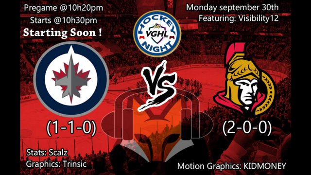 Highlight: Hockey night in VGHL: Ottawa Senators @ Winnipeg Jets
