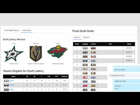Season 14 VGNHL Entry Draft