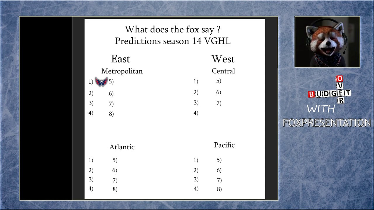 VGHL Season 14 Preview and predictions !