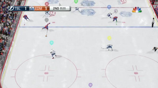 Puck shoots straight up