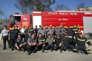 Greek and Israeli firefighters