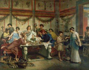 Photo courtesy of: http://blogs.getty.edu/iris/reclining-and-dining-and-drinking-in-ancient-rome/