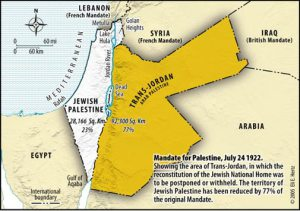 Not in the textbook. Only 1/4 of Palestine became the Jewish state.