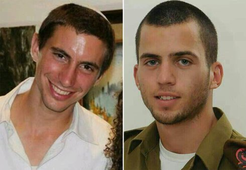 Israel making efforts to retrieve their bodies: Goldin (left) and Shaul.