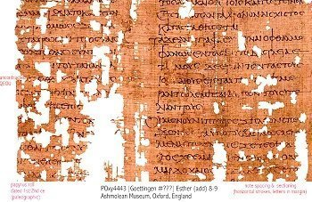 The earliest fragment of Greek Esther – 1st/ 2nd CE