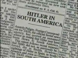 On July 16, 1945, the Chicago Times carried a sensational article on the Hitlers having slipped off to Argentina.