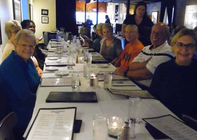 LLL)_North End of Table A -Supper at _Bourbons Bistro_10-14-2019_SAM_8641
